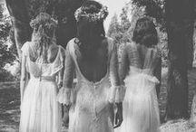 Mariage Bohème / Inspirations univers mariages bohème. Robes, coiffures, bijoux, headbands, déco