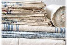 Vintage  Linen Fabric / Vintage Linen Fabric