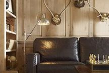 Living in Leather / Living Room Inspriration featuring leather designs.