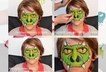 Face Painting | Tutorials / Step by step guide on how to produce really effective face art - See more at: http://www.faceartfacepainting.co.nz