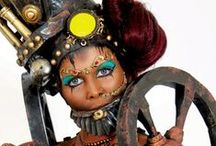 Body Painting | Steampunk / Artistic styles, clothing fashions, subcultures... developed from the aesthetics of steampunk fiction, Victorian-era fiction, art nouveau design...