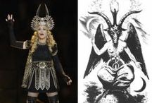 baphomet and illuminati puppet