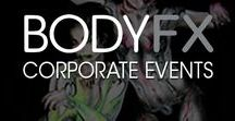 CORPORATE EVENTS / We have been invited to various Events to create our body paints as art installations, waitresses & entertainers.