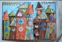 i art journal - houses / My art journal focusing on houses - inspired mainly by Cathy Bluteau and Christy Tomlinson