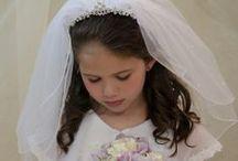 First Communion Headband Veils / Girls first communion headband veils available at Christian Expressions online at www.firstcommunions.com
