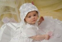 Floral Christening Gown for Girls / Floral Christening Gown. Made in the USA. Available at Christian Expressions online http://www.christeningapparel.com/christening-gowns/baptism-dresses/chloe-christening-gown.html