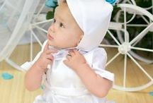 Boys Irish Christening Romper with Celtic Cross / This little charmer is modeling our  irish celtic cross christening romper for boys. Embroidered celtic cross at chest and back of cap. http://www.christian-baby.com/