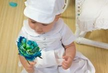 Boys Christening Romper with Hat / Poly Cotton boys christening romper with hat. Made in the USA.  http://www.christian-baby.com/