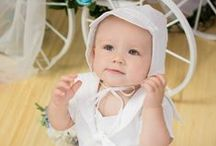 Boys Sailor Suit Christening Romper / Adorable poly cotton boys sailor suit romper. Made in the USA. Includes matching hat. http://www.christian-baby.com/