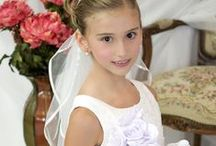 First Communion Tiara Style T903 / Beautiful first communion tiara. Large style all silver. Optional veil sold separately.