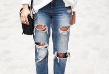 Boyfriend Jeans Distressed / Boyfriend Fit Jeans