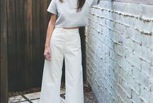 STYLING | inverted triangle shape / The Inverted body shape. Easily balance out your body by adding details or volume to your hips. Wide leg pants & A-line skirts will help you achieve this.