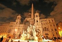 Rome / Rome - the capital in Italy. Colosseum, St Peters basilica, Piazza Navona, Phanteon, Fontana Trevi