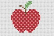 cross stitch : fruit and vegetables