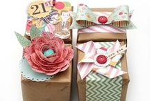 book marks, cards and gift wrap ideas etc...