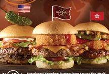 """World Burger Tour 2015 / Os nossos Legendary Burgers fizeram as malas e estão oficialmente """"on tour""""! Em maio 2015 poderá provar os sabores de Seattle, Mumbai, Guam e San Antonio, e em Junho 2015 terá a chance de conhecer os hamburgers de Miami, Dubai, Ho Chi Minh e Guatemala!"""