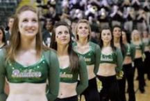 Spirit Unit/Pep Band / Our spirit squad is made up of the cheer leaders, the emerald jazz team, and our mascot Rowdy!  Our Pep Band is made up of WSU students who perform at Women's and Men's Basketball games as well as other selected events around campus and the community.  / by Wright State Raiders