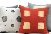 BZDesign : p i l l o w s / hand dyed, block printed & embroidered pillows.