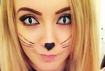 Cat Makeup & FX Contacts / Cat special effects makeup ideas paired with FX contact lenses