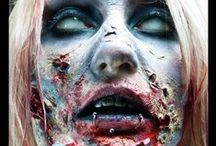 Zombie Makeup & FX Contacts / Zombie special effects makeup & prosthetics ideas, paired with FX contact lenses