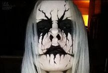 Goth/Metal Makeup & FX Contacts / Goth, & Heavy Metal makeup ideas paired with FX contact lenses