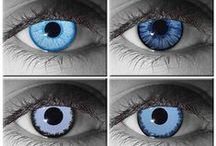Vampire Contact Lenses / Vampire Contact Lenses - Variety of styles & colors. Spice up any Vampire costume, or Goth gear.
