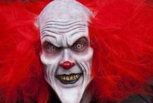 Clown Makeup & FX Contacts / Clown Special Effects Makeup Ideas, Paired With FX Contact Lenses.