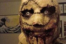 Scarecrow Makeup & FX Contacts / Scarecrow special effects makeup ideas paired with FX contact lenses.