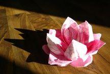 Napkin folding - Lautasliinojen taittelua