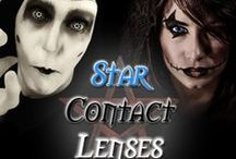 Wild & Crazy Contact Lenses / A great effect idea for celebrations, birthday parties, new years, rock concerts, goth clubs, or any Fun or Wild & Crazy events.