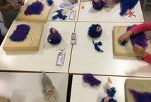 Laboratori in lana fiaba e cardata per bambini di CreazioniMonica