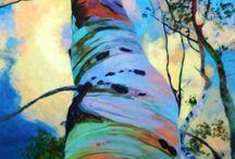 Tree paintings / Beautiful tree art / by Roselyne Edwards