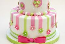 Cakes - Pink & Green