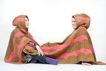 The Twosome Blanket | Samveruteppið / In earlier times, in many unheated homes in Iceland, it was custom to share beds to stay warm, even with visiting strangers as a gesture of hospitality. People would lay side by side, in the opposite direction to one another, to keep warm. The Twosome blanket brings us closer together and warms all kinds of relationships.