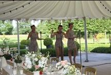 Real Wedding - Alfresco Dining at Lemore Manor / Dine outdoors in our lovely gardens for #weddingreception #alfresco style!