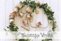 "Cottage Style Wreaths / Simple cottage style wreaths to adorn your home, because ""Home is Where you Hang your Wreath""...Find more at TheCottageWreath.com"