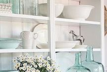 Cottage & Farm Kitchens / Old French cottage kitchens appeal to my romantic side.  Simple elements with artistic touches create the old world look so sought after.  Follow Country Cottage Kitchens to find love for the heart of your home...