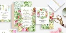 Cactus Rose - My stationery business / My shop for online design services