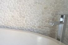 Pebble Mosaics / Pebble Mosaics from Anatolia Tile + Stone www.anatoliatile.com