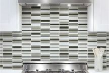 """Bliss Glass - Element / Solid glass mosaics, ranging from 1""""x1"""", 2""""x6"""", random strip and random stacked to 3""""x12"""" in 6 colors!"""