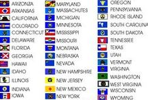 Flags - US States, Territories, Districts / by Bruce R. Gilson