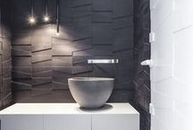 Modern Bathrooms / Inspirational photos and articles about designing bathrooms with modern fixtures, textures, and accessories. The latest trends are featured here.