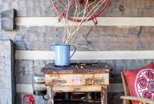 Hood Creek Log Cabin / Our home, a hand hewn log home built by Hearthstone Homes and currently under extensive renovations.