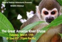 "Webinars / Don't miss our Wildlife Webinars, informative and entertaining presentations about the destinations we visit, presented by top experts in the field. Learn about the trips we offer, ask questions, and go on a ""virtual expedition"" with us!   Currently, our webinars are held on the 1st and 3rd Tuesday of each month, from 3-4pm ET (12pm PT).  Schedule subject to change."