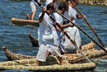Reed boat. bateau de roseaux / by Lug