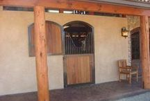 Dutch Doors / A Dutch door is not only beautiful, but a practical way to enter and exit a stall without having to go through the aisle.