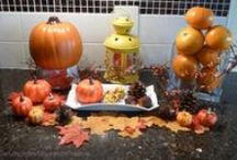 """Fall Decorating - Thanksgiving and Halloween / Easy and affordable DIY and """"How To"""" decorating ideas."""
