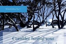 Winter Wedding Tips / Tips on having a winter wedding. A winter wedding advent calendar.