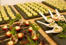 Canapés   / That finger food we all love to nibble on with a glass of fizz