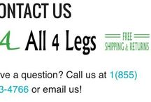 Spread the word! / Join All 4 Legs in helping people find the necessary products to make their lives more enjoyable and comfortable!
